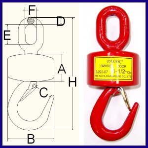 Wide Opening Bearing Load Swivel (Eye & Hook)