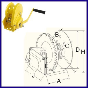 CDL Gear Capping Hand Winch With Brake