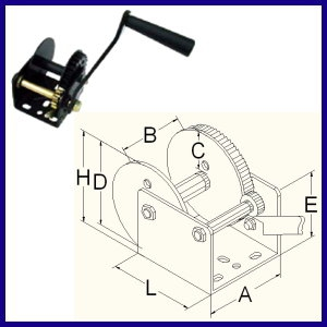 DL Hand Winch with brake