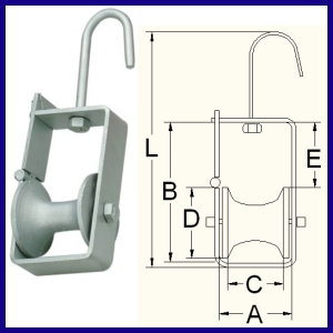 AL- Steel Cable Pulley Block