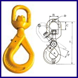 8-927 Swivel Self-Locking Hook