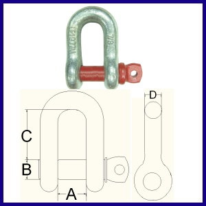 GUB G-210 GALV. Dee Shackle