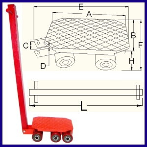 B-A Cargo Trolley With Universal Load Plate