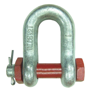 GUU G-2150 GALV. Dee Shackle with nut